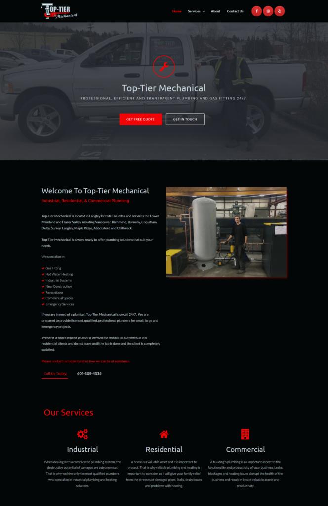 Top-Tier Mechanical Website