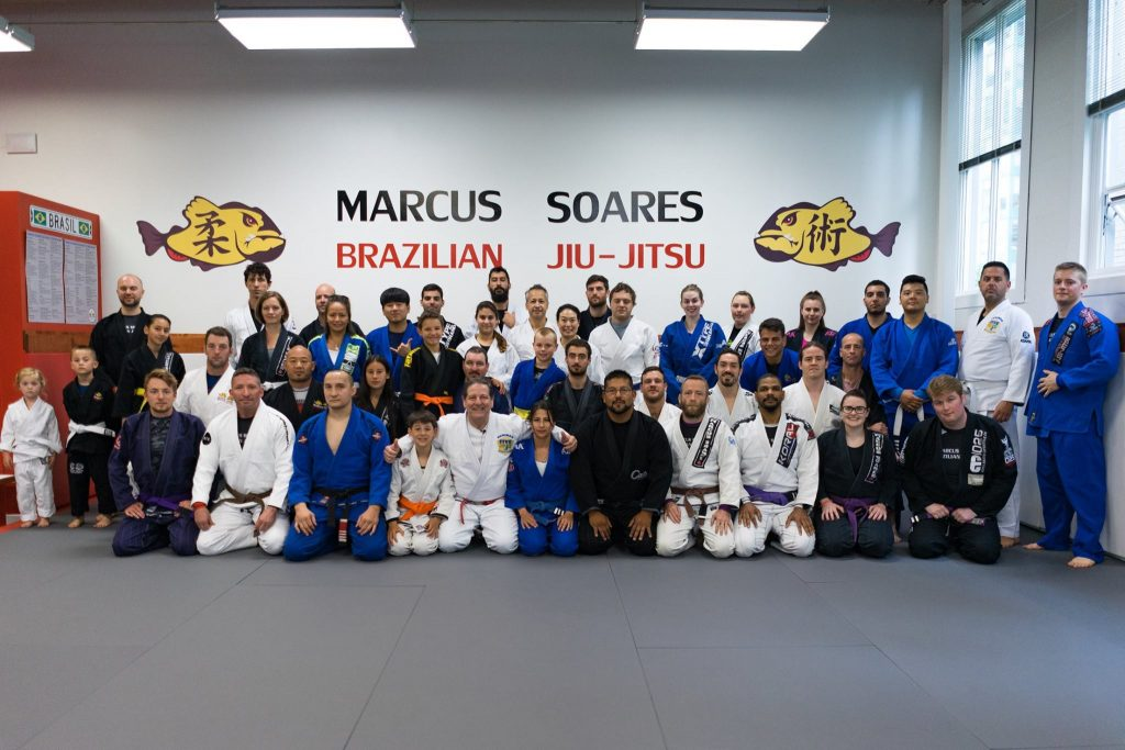 Approximately 40 members of Marcus Soares BJJ Team in Vancouver