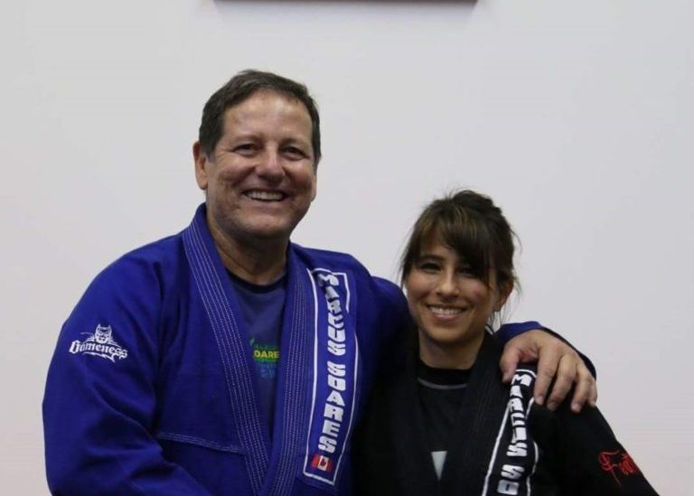 Marcus Soares and Dana Alway smiling at the camera