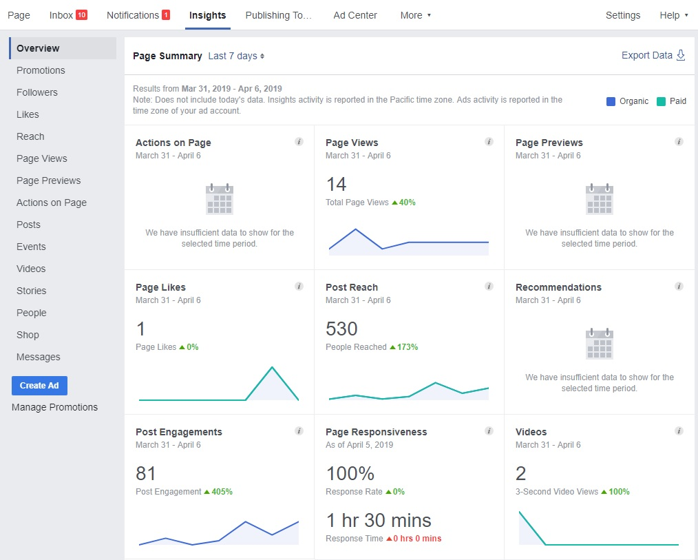 Facebook Audience Insights Screenshot