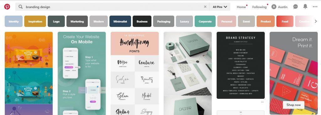 Pinterest Branding Search