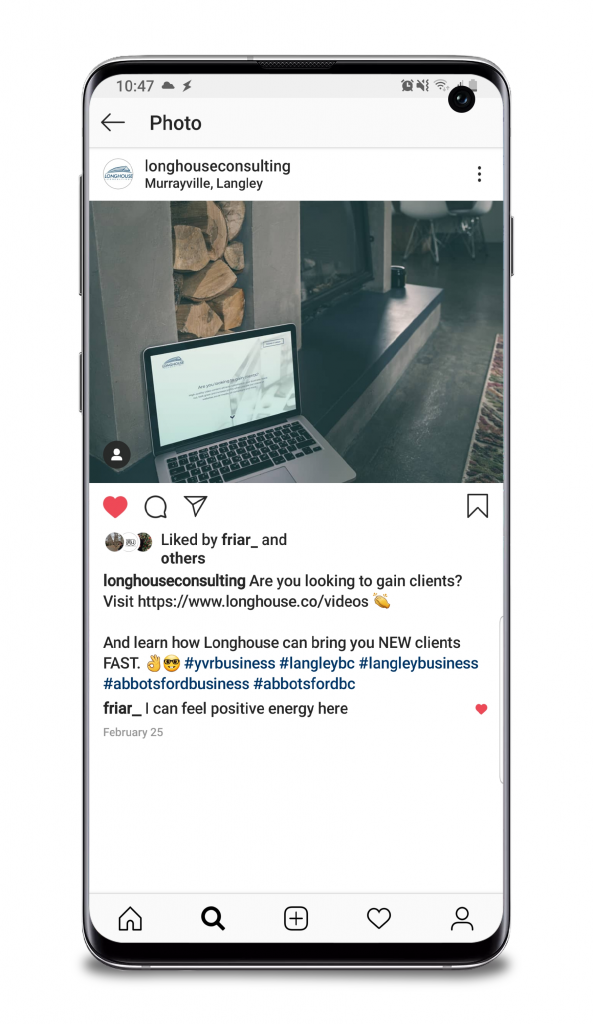 Longhouse Consulting Instagram Post