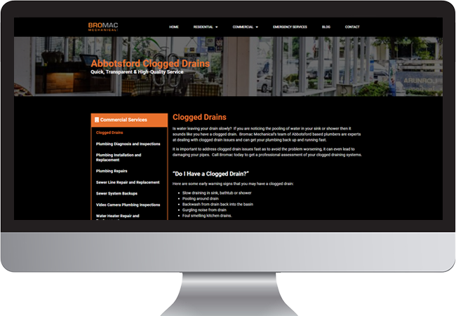 Langley Business Website Bromac Mechanical Website