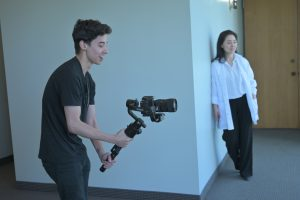 Videographer at a video production shoot