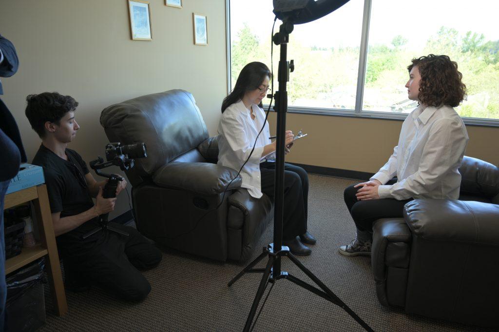 Natural medicine doctor video shoot