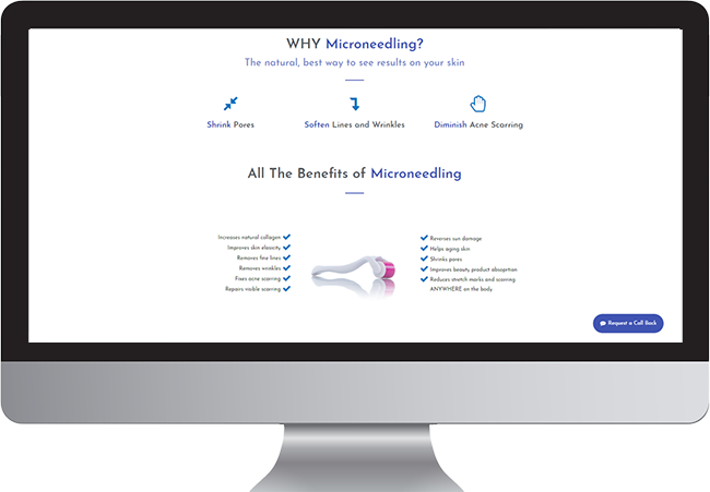 Microneedling Landing Page Example