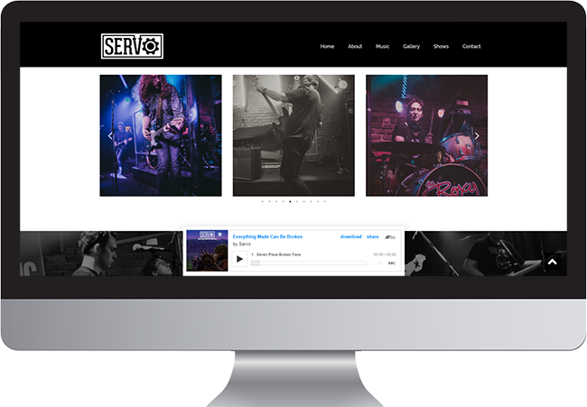 Langley Musician Website Servo Band Website