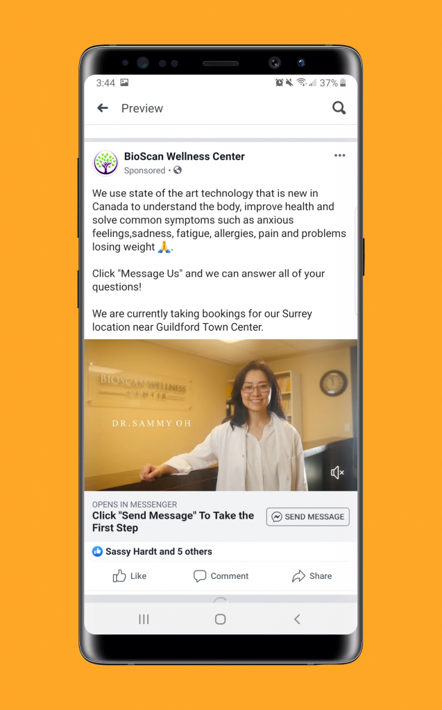 BioScan Wellness Center Facebook Ad
