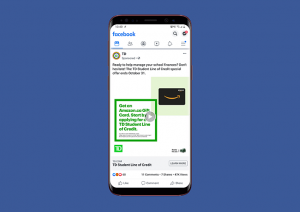 Example of a Facebook video advertisement on mobile