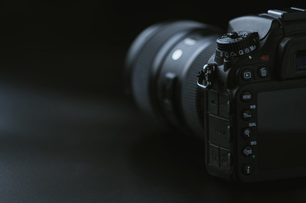 Backside of a high-quality camera showing he numerous settings available