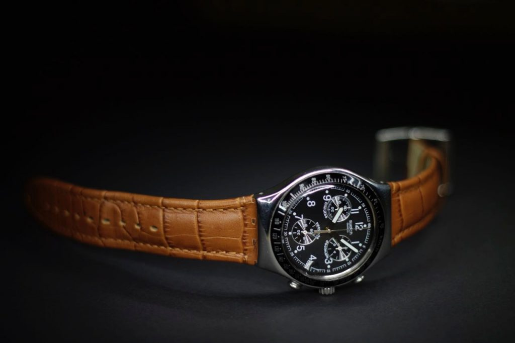 Watch product photo on a dark background