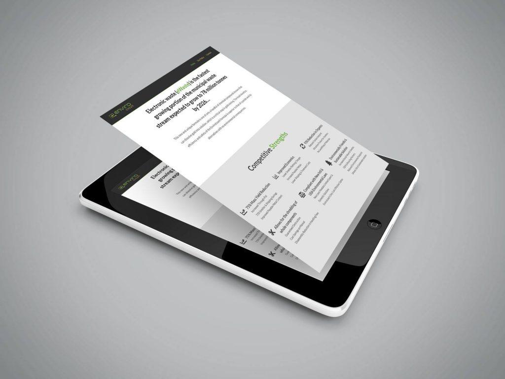 Envirocircuit website on an iPad