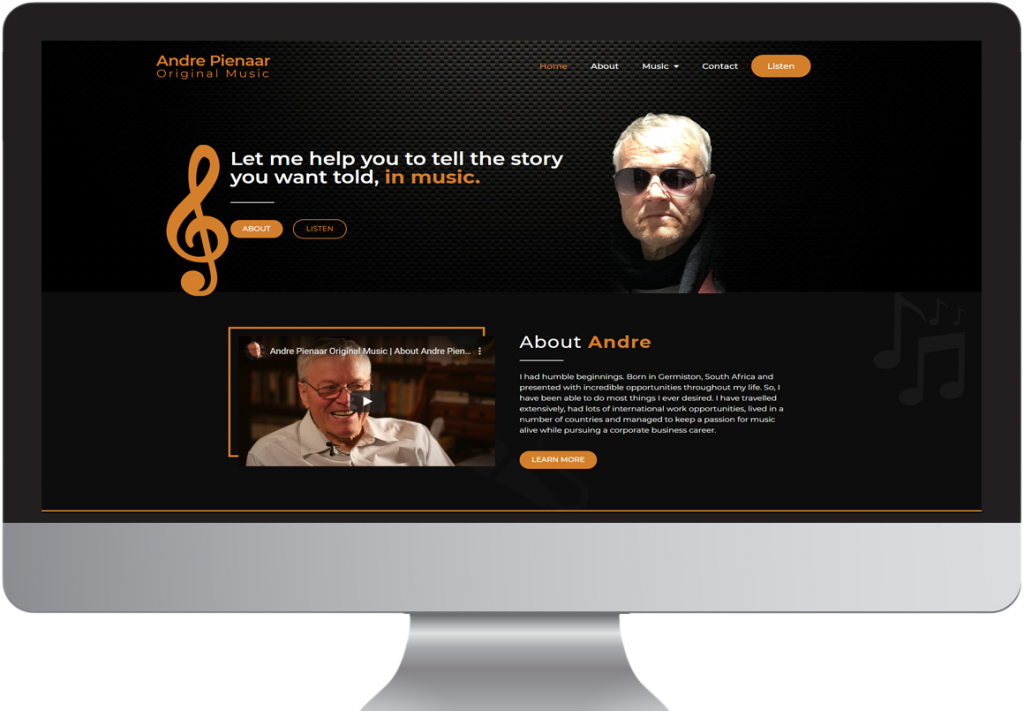 Andre Pienaar Original Music Website